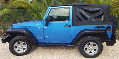 Anguilla Car Rental | Bryans Car Rentals | Jeep Wrangler